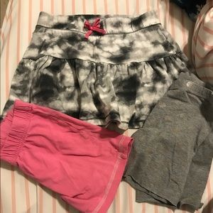 (3pcs)Girls skirt and shorts size 6-6x